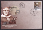 Serbia 2015 100th Anniversary Of Patents Of Michael Pupin, Telecommunications, Telephone, Physics, Sciences, FDC - Telekom