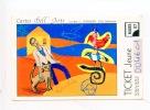"""Le Havre 2007 : Cartes Dell´Artes """"Le Rêve"""" L. Corvaisier (ticket Jeune) Bus Océane (arts Tableaux) - Abonnements Hebdomadaires & Mensuels"""
