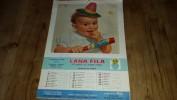 BIELLA-COGGIOLA-FOSSATO-GENOVA FEGINO-BAMBINI-CALENDARIO-FRATELLI FILA-LANIFICIO-1957 - Calendari