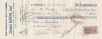 Lettre Change 23/11/1939 HENNION Brasserie Malterie Pois Cassés LA GORGUE Nord Pour Gourdon Lot - Wechsel