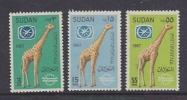 Sudan 1967 Giraffe 3v ** Mnh (25536) - Soedan (1954-...)