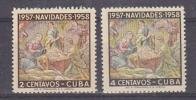 Cuba 1957 Christmas 2v ** Mnh (25539) - Cuba