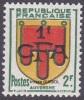 Réunion N° 287 ** Blason - Armoiries - Région Auvergne - Réunion (1852-1975)