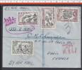 NIGERIA - 1956 - LETTRE RECOMMANDEE PAR AVION DE JOS A DESTINATION DE PARIS - - Nigeria (1961-...)