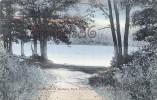 Moonlight On Burham Park Pond - Morristown New Jersey - 2 SCANS - Etats-Unis