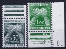 France: Yv Nr  Tax 93 + 94 MNH/** Sans Charnière  Postfrisch