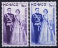 Monaco: V Nr. AE  74 - 75  MH/*, Avec  Charnière , Mit Falz