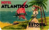 12 HOTEL Labels PORTUGAL Estoril Vouzela FUNDAO Vidago FATIMA Tomar PORTO SETUBAL - Hotelaufkleber