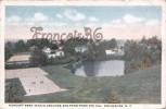 Higland Park Tennis Grounds And Pond From The Hill Rochester - 2 SCANS - Rochester