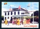 SURINAM  -  Paramaribo  Flag Square  Used Postcard As Scans - Surinam