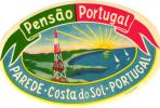 12 HOTEL Labels PORTUGAL  Estoril Porto Coimbra Leiria Braga Setubal EVORA Parede FURNAS AZORES - Etiketten Van Hotels