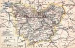 (27) Carte Géographique De Pont Levêque Andelys Louviers Evreux Bernay - 2 SCANS - Autres Communes