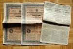 Russie - BANQUE IMPÉRIALE FONCIÈRE De La NOBLESSE Lettre De Gage  - 10  Titres 1897 - Russie