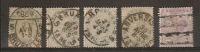 Nrs. 39 (4x) En 41 Gestempeld En In Variërende Staat ! Inzet Aan 5 € ! - 1883 Leopold II