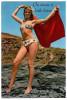 CPSM PIN UP FEMME MAILLOT DE BAIN SERVIETTE BAIN ON SECOUE A TOUTE HEURE CAP 563 - Pin-Ups