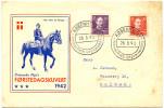 Denmark 1942 FDC Der Rider En Konge FDC Bb151014 - FDC