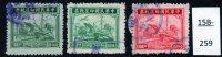 China : Transportation Revenue Ship Train Aircraft Jones 60-62  TS 25-27 - 1912-1949 Republic
