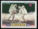 LIBERIA - Scott #602 Moon Flight Of Apollo 16 / Used Stamp - Liberia