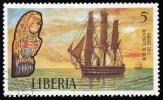 LIBERIA - Scott #609 Sailing Ship,  Hogue 1811 / Used Stamp - Liberia