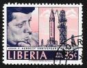 LIBERIA - Scott #C174 Kennedy And Rocket (*) / Used Stamp - Liberia