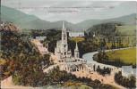 LOURDES - 65 -    CPA COLORISEE  - Vue Plomgeante Sur L'Esplanade, La Basilique Et Vallée Du Gave -  -VAN - - Lourdes