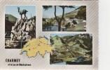CPSM VAL DE CHARMEY (Suisse-Fribourg) - CHARMEY Et Lac De Montsalvens : 3 Vues - FR Fribourg