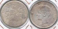 ESPAÑA PUERTO RICO ALFONSO XIII PESO 1895 PLATA SILVER U - Puerto Rico