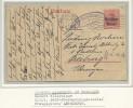 "Ent. Postal Germania Surchargé Belgien 10c Anvers > Freiburg""milit.post überwachungsstelle FreigegebenAntwerpen"" - WW I"