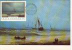 29705- I.K. AIVAZOVSKI- SEASCAPE, PAINTING, MAXIMUM CARD, OBLIT FDC, 1971, ROMANIA - Arte