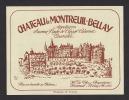 Etiquette De Vin Saumur Rouge Cépage Cabernet -  Chateau De Montreuil Bellay  -  Thème Monuments - Sin Clasificación