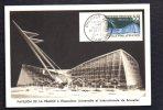 Exposition Universelle Et Internationale De Bruxelles 1956 / Pavillon De La France / Carte Maximum 1er Jour CAD Paris - Tentoonstellingen