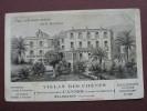 CPA 06 CANNES Villa Des Chenes PENSION Route D'Antibes WALSDORFF Propriétaire DESSIN RARE PLAN ? PUB Hotel BELLEVUE - Cannes