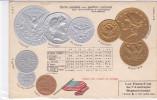 CARD  MONETE STATI UNITI D'AMERICA SETTENTRIONALE  BANDIERA IN RILIEVO -FP-N-2-  0882 - 19205 - Monete (rappresentazioni)