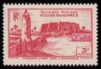 "LIBYA - Scott #1N7 Murzuq Castle ""French Occupation"" / Mint LH Stamp - Unused Stamps"