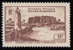 "LIBYA - Scott #1N8 Murzuq Castle ""French Occupation"" / Mint LH Stamp - Unused Stamps"