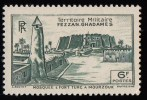 "LIBYA - Scott #1N9 Murzuq Castle ""French Occupation"" / Mint H Stamp - Unused Stamps"