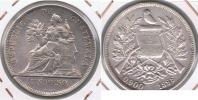 GUATEMALA PESO 1896 PLATA SILVER U - Guatemala