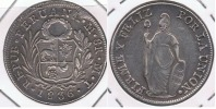PERU  LIMA 8 REALES 1836 PLATA SILVER U - Perú