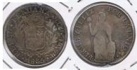 PERU CUZCO 4 REALES 1835 PLATA SILVER U - Perú
