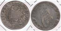 PERU ESTADO NOR-PERUANO LIMA 8 REALES 1838 PLATA SILVER U - Perú