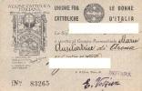 """04204 """"UNIONE FRA LE DONNE CATTOLICHE D'ITALIA - AZIONE CATTOLICA ITALIANA - TESSERA 1930"""" TESSERA SOCIALE ORIGINALE - Altre Collezioni"""