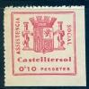 EMISIONES LOCALES GUERRA CIVIL ,CASTELLTERSOL , FESOFI 2 (*) , ASISTENCIA SOCIAL - Viñetas De La Guerra Civil