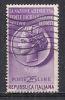 ITALIA 1955 PROPAGANDA DENUNCIA DEI REDDITI SASS. 778 USATO  VF - 6. 1946-.. República