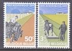 BELGIUM   634-5   *    FARMING - Unused Stamps