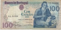 Portugal #178b, 100 Escudos 1981 Banknote Currency - Portugal
