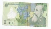 Billet , Banca Nationala A Romaniei , 1 LEU, 2005 , 2 Scans - Roumanie