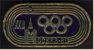 Anstecker Olympiade Moskau 1980  - Ca. 26 X 13 Mm - Pin's & Anstecknadeln