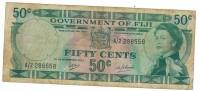 Fiji, 50 Cents, 1969, Used.  FREE SHIP. TO USA. - Fiji