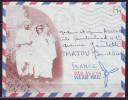 MILITARIA Lettre ILLUSTREE  Cachet  POSTE AUX ARMEES  A.F.N.  Le 5 8 1957  F.M. Pour CHATOU S.et.O. - Marcophilie (Lettres)