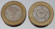 Bénin 6000 CFA 2005 JO Bimetal Animal - Benin